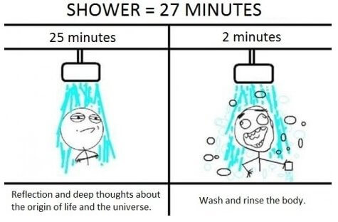Take a Shower Funny