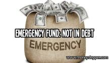 Emergency Fund Not In Debt