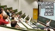 Top 10 degrees to earn the highest salaries