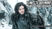 15 ways to save money - Game of Thrones Infographic