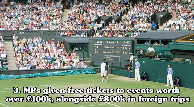 MP expenses scandal - Free tickets for events