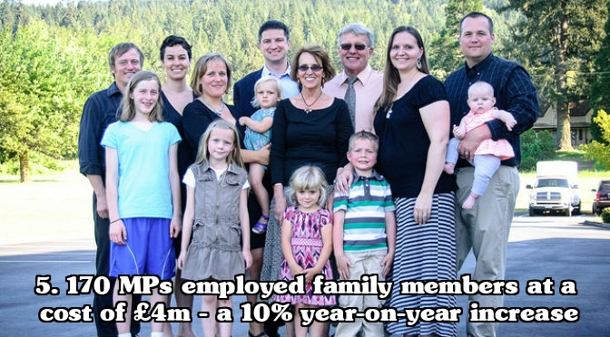 MP expenses scandal - Employing family members relations