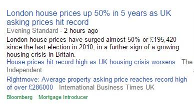 Housing crisis headlines