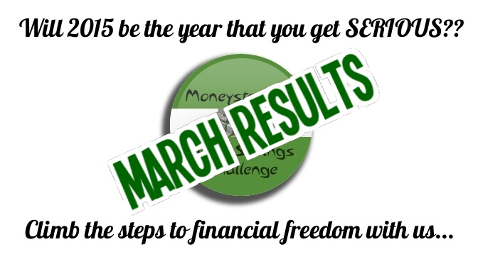 Moneystepper Savings Challenge March Results
