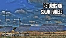Returns on solar panels UK