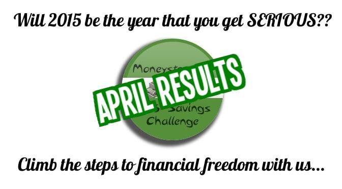 Moneystepper Savings Challenge - April Results