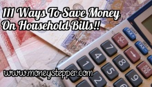 Ways To Save Money On Household Bills