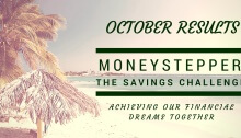 Moneystepper Savings Challenge October Results