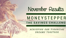 Moneystepper Savings Challenge November Results