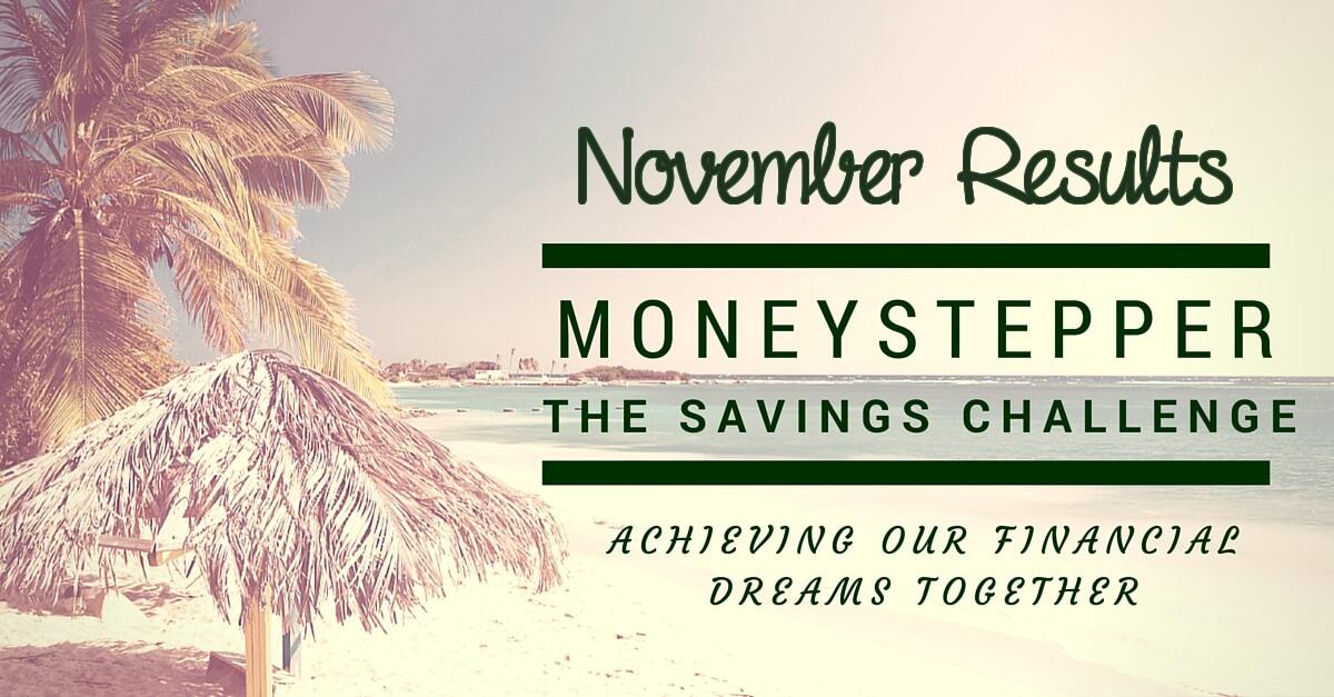 Moneystepper Savings Challenge November Results