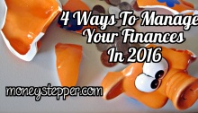 4 Ways To Manage Your Finances In 2016