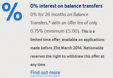 Taking out a loan - Nationwide