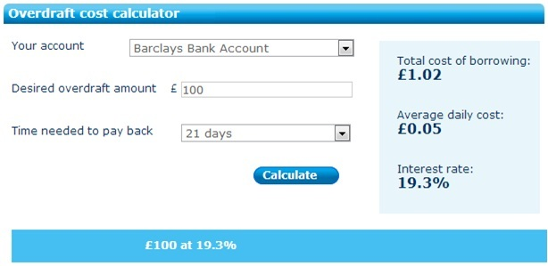 Taking out a loan - Overdraft