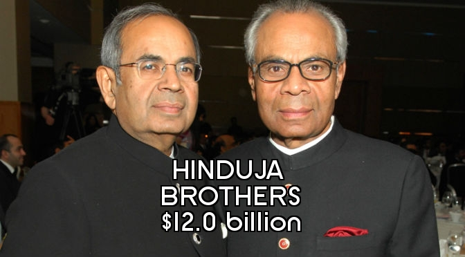 Richest People in England - Hinduja Brothers Final