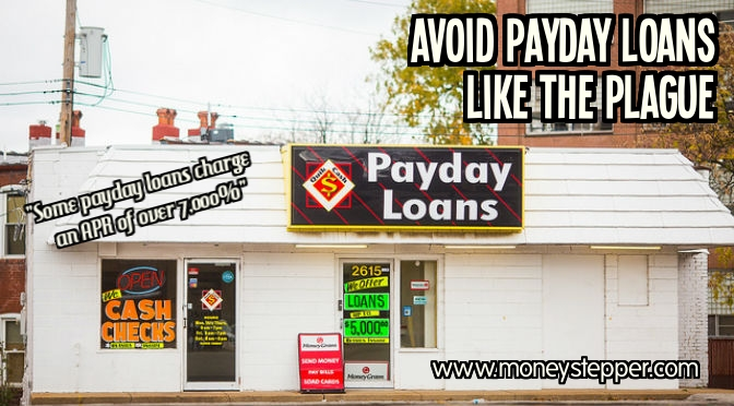 Avoid payday loans like the plague