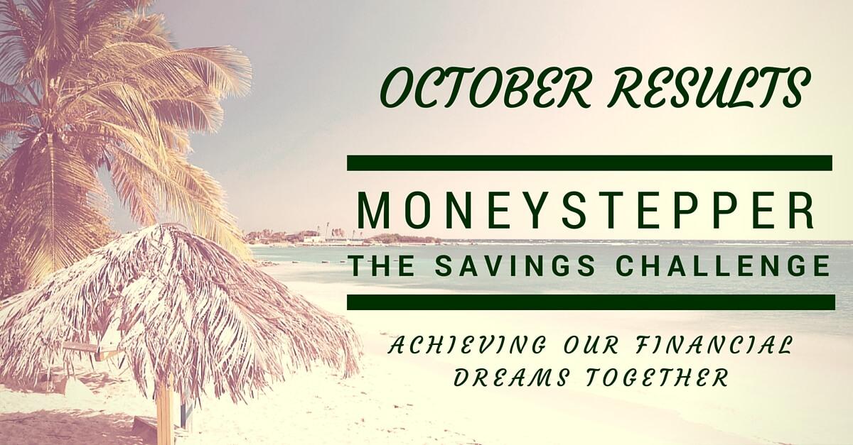 Moneystepper Savings Challenge October Results