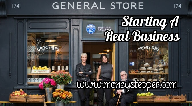 Starting a real business